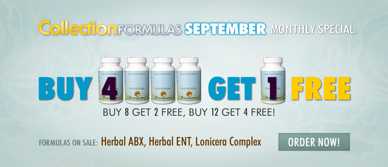 September Buy 4 Get 1 Free Monthly Special