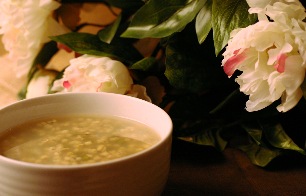 Healthy Receipe - Sweet Mung Bean & Coix Soup